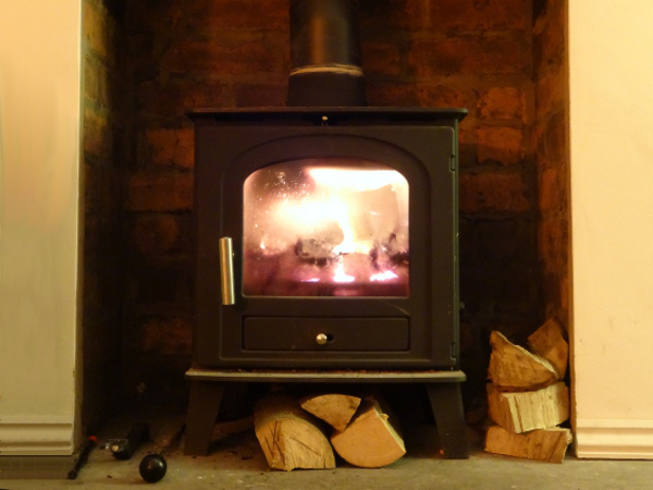 Burning Wood On A Wood Burning Stove South Yorkshire